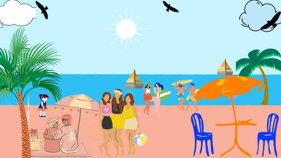 Suasana pantai yang diinginkan istri
