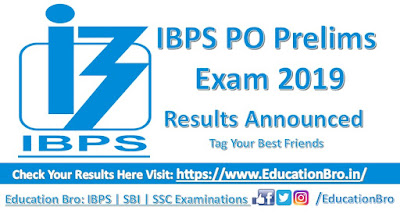 IBPS PO Prelims Result 2019 IBPS PO prelims result 2019 announced, Check your results here