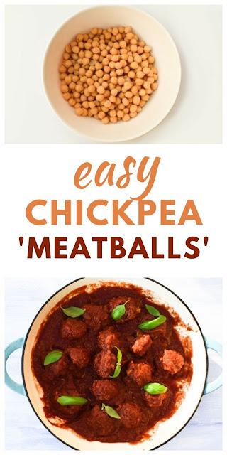 easy chickpea meatballs