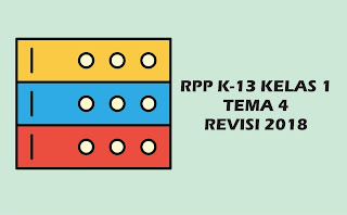 Download Gratis RPP Kelas I Tema 4 K 13 Revisi 2018