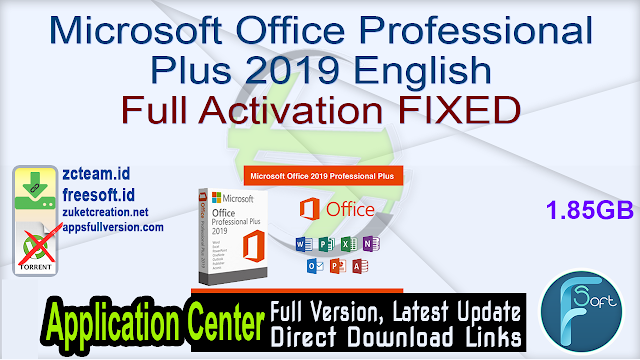 Microsoft Office Professional Plus 2019 English Full Activation FIXED_ ZcTeam.id