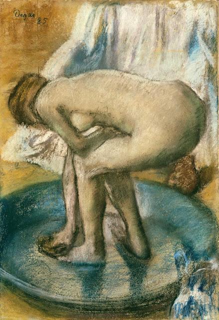 Эдгар Дега - Женщина, купающаяся в тазу (1885)