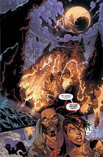 Comics - Danger Girl: April Mayday et son groupe de mercenaires découvrent une île en feu
