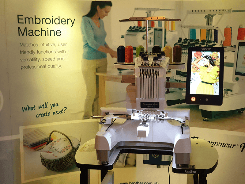 Brother Philippines launches PR embroidery machines