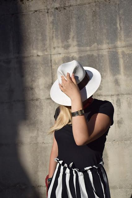 outfit cappello panama bracciale il rullino outfit agosto 2016 mariafelicia magno fashionbl felym fashion blog italiani fashion blogger italiane blog di moda italiani outfit estivi