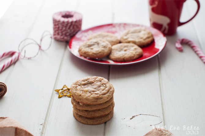 Cookies de jengibre con chips de chocolate blanco