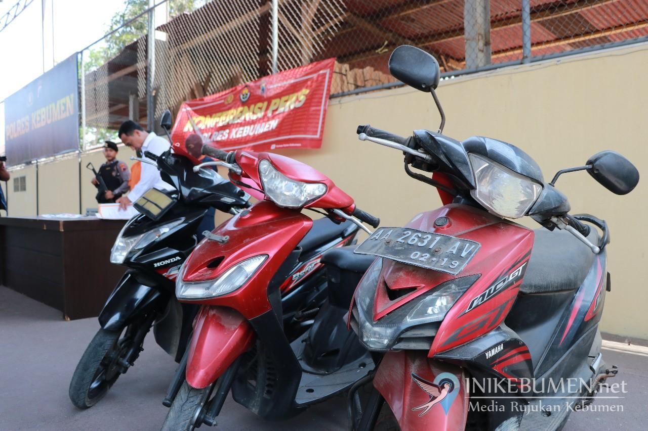 Duh! Tiga Pencuri Motor Ditangkap Polisi, Satu Diantaranya Berusia 60 Tahun