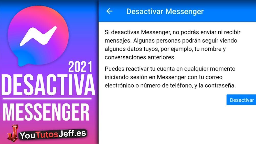 Como DESACTIVAR Facebook Messenger 2021