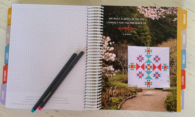 Tabs in the Quilter's Planner