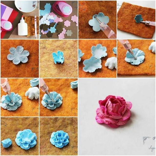 Farklı Malzemelerden Çiçek Yapımı