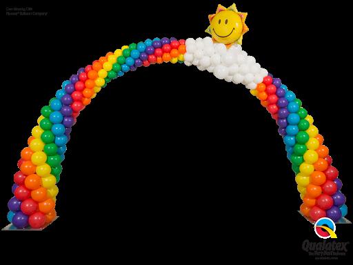 Sunshine Smile Face Rainbow Arch