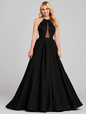 Ellie Wilde Ball Gown prom Black Color dress