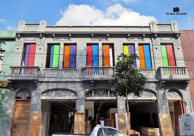 Vista ampla de Casarão restaurado da Rua do Gasômetro - Brás - São Paulo