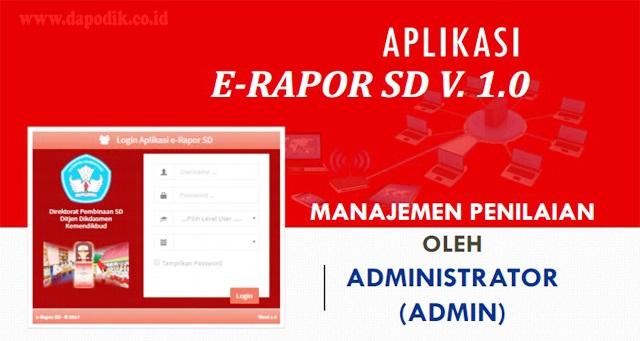 Aplikasi e-Raport SD 2020 Terintegrasi Dengan Aplikasi Dapodik Yang Dikeluarkan Oleh Sekretariat Direktorat Jenderal Pendidikan Dasar dan Menengah (Setditjen Dikdasmen)