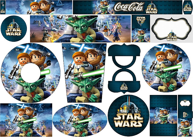 Star Wars Lego: Etiquetas para Candy Bar para Imprimir Gratis.