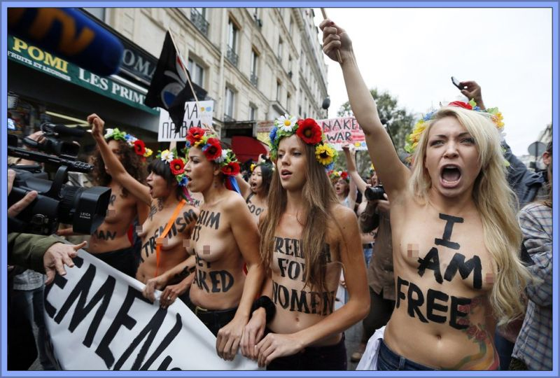 Girls Naked Protest