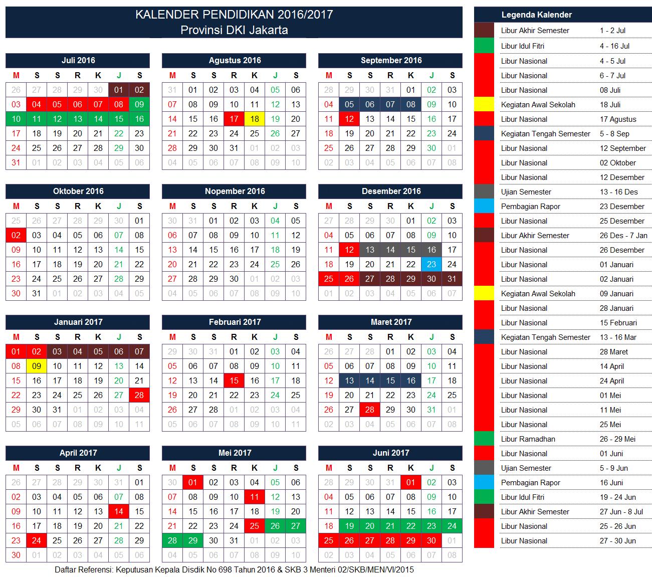 Kalender Pendidikan Provinsi DKI Jakarta
