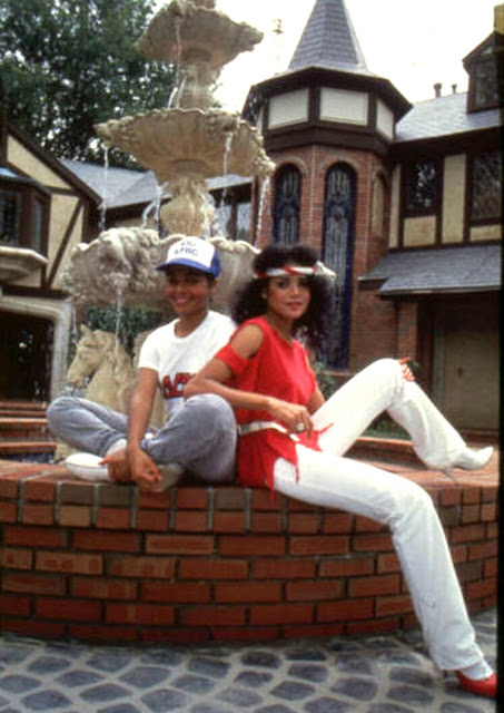 Janet Jackson Latoya Jackson at Hayvenhurst