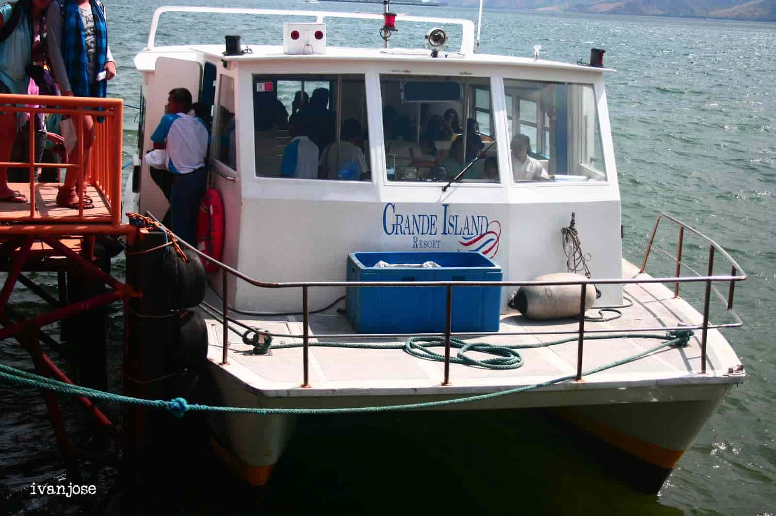 Ferry boat that took us to Grande Island Resort