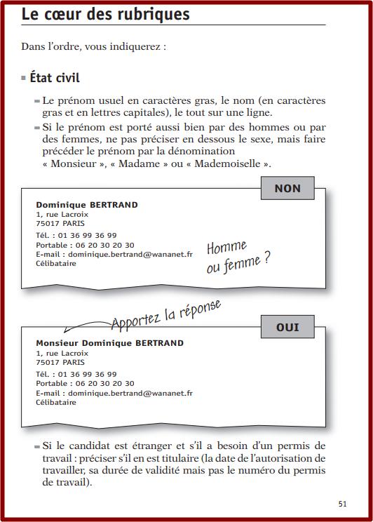 كتاب لتعلم كتابة رسالة أو السيرة الذاتية باللغة الفرنسية Le Cv La