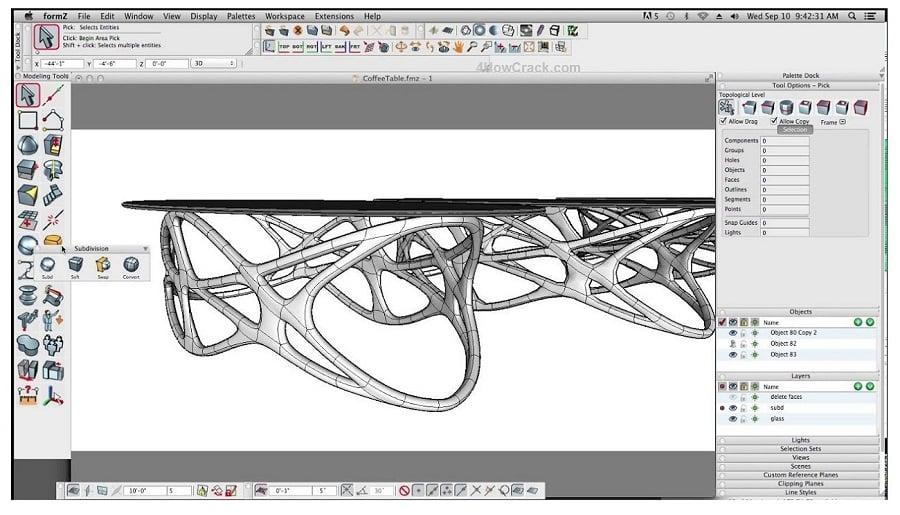 تحميل برنامج تصميم ثلاثي الأبعاد قوي يضم مجموعة متنوعة من أدوات النمذجة formZ Pro 9.0.4 مع التفعيل