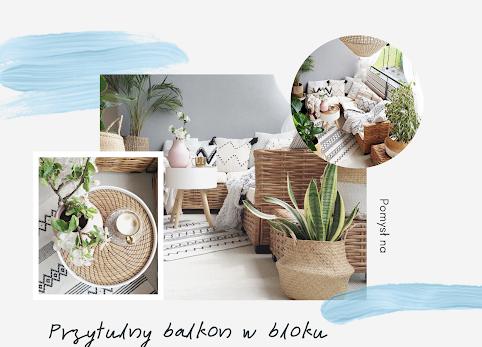 Mały, przytulny balkon w stylu boho - zobacz jak to osiągnąć.
