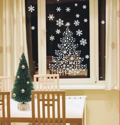 12 ideas navide as para decorar ventanas en esta navidad - Ideas decorativas navidenas ...