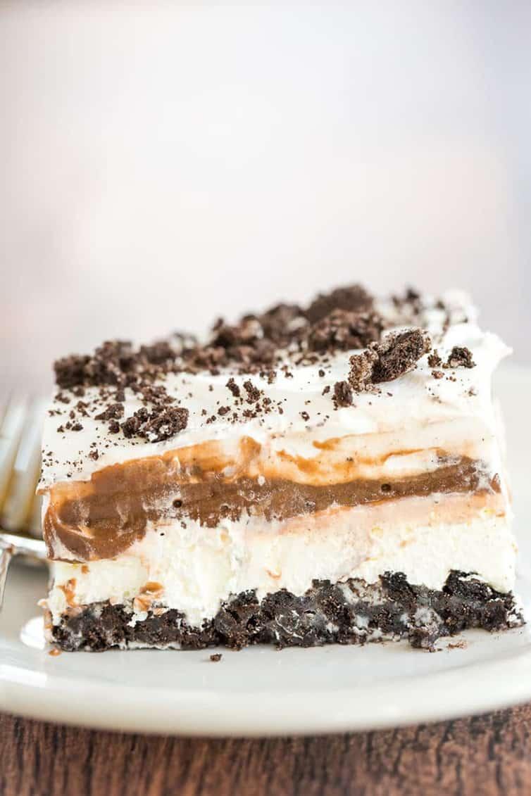 NO BAKE OREO LAYER DESSERT #nobake #oreo #oreocake #layer #dessert #dessertrecipes #cake #cakerecipes