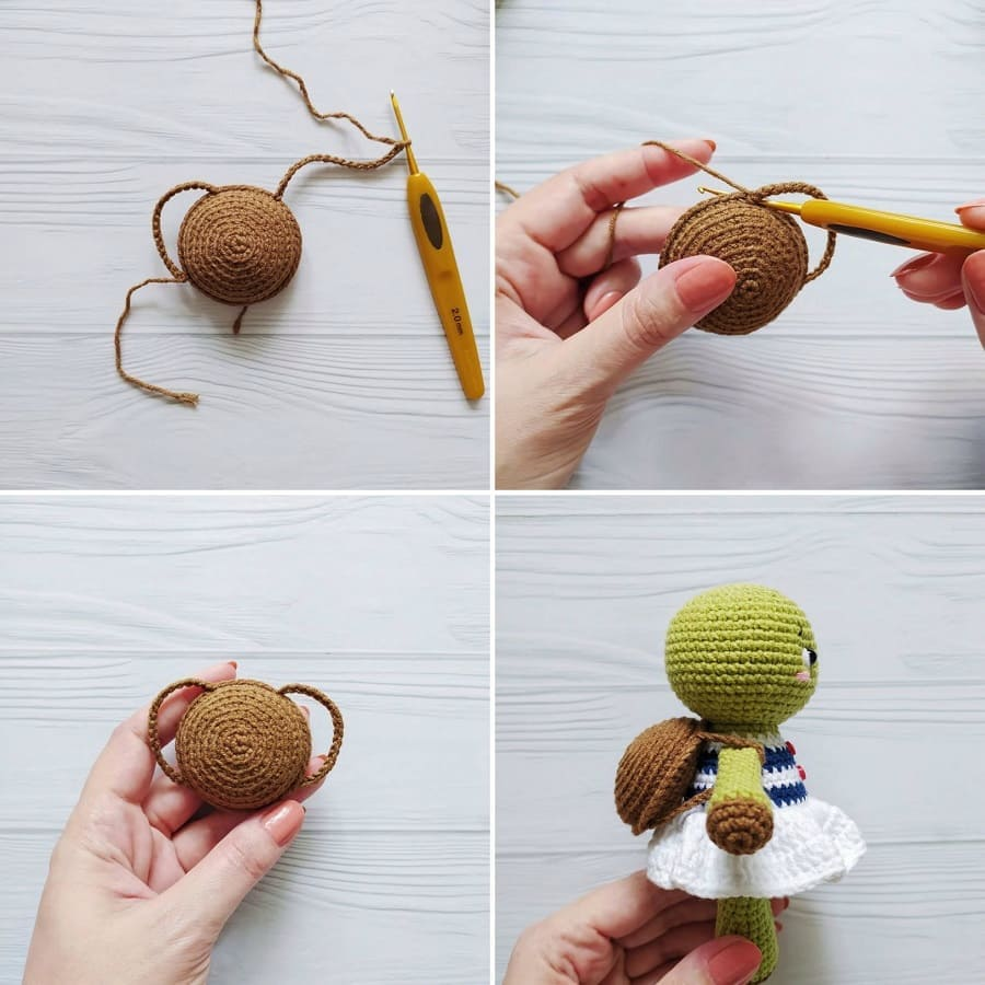 Crochet turtle tutorial shell