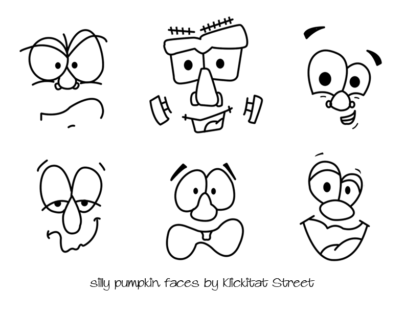 Silly Pumpkin Faces With Royal Icing Transfers