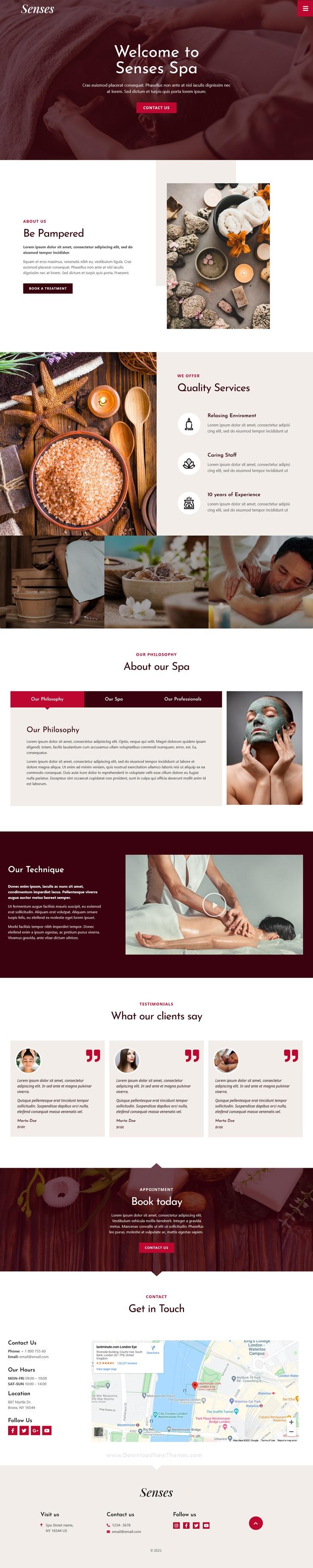 Beauty Spa Salon Elementor Template Kit
