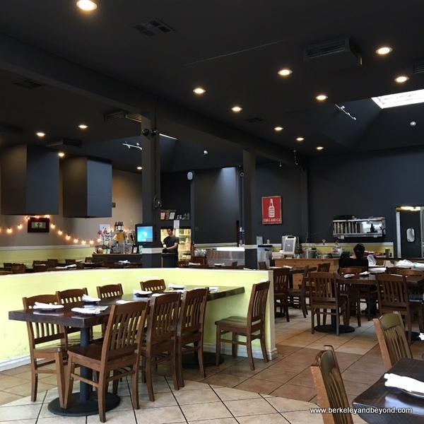 interior of Bowl'd BBQ Korean Stone Grill in Oakland, California