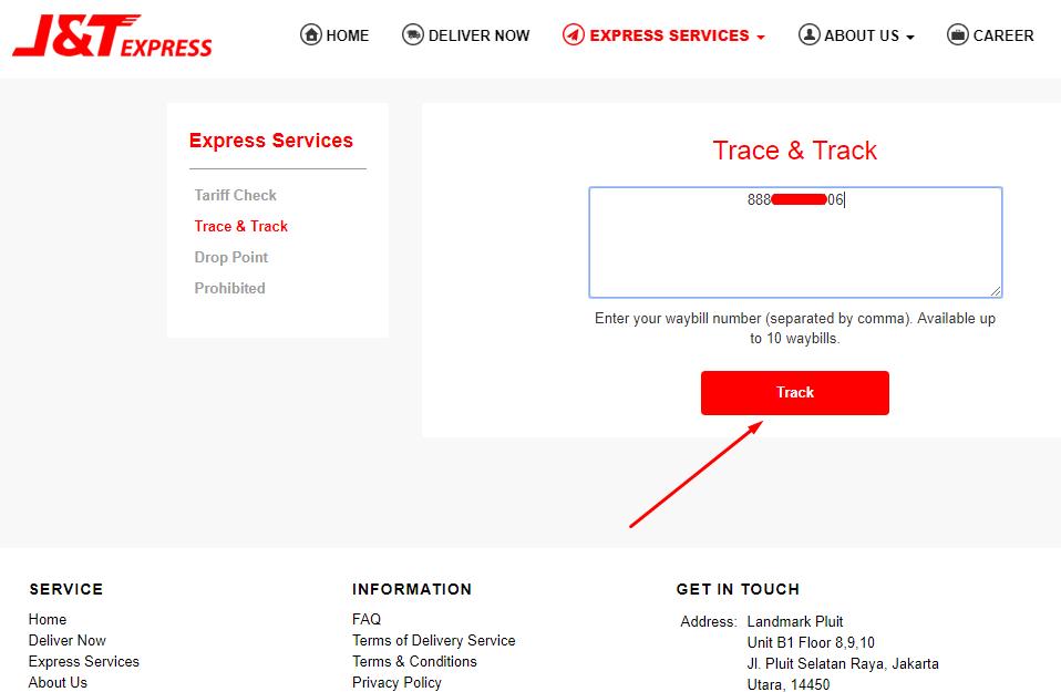 Cara Cek Pengiriman J T Express Dengan Nomor Resi Tutorial Teknologi