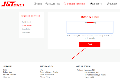 Cara Cek Pengiriman J&T Express dengan Nomor Resi 8