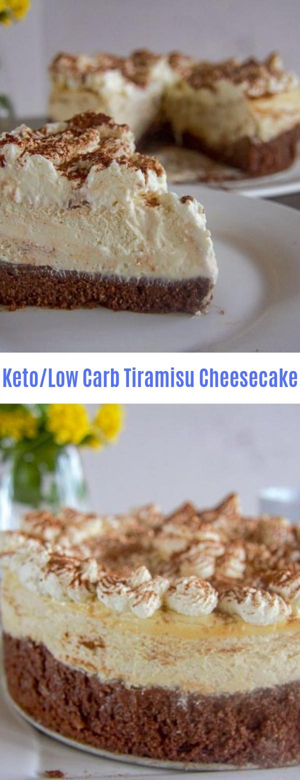 Keto/Low Carb Tiramisu Cheesecake