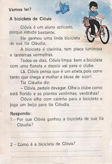 Leitura A bicicleta de Clóvis