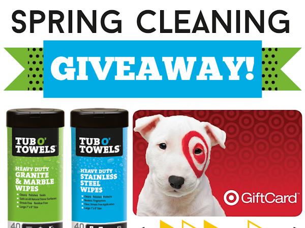 Enter To Win The Spring Cleaning Giveaway! {$100 Target Gift Card + Tub O' Towels Prize Pack}