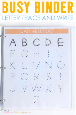 Letter Trace and Write Pages