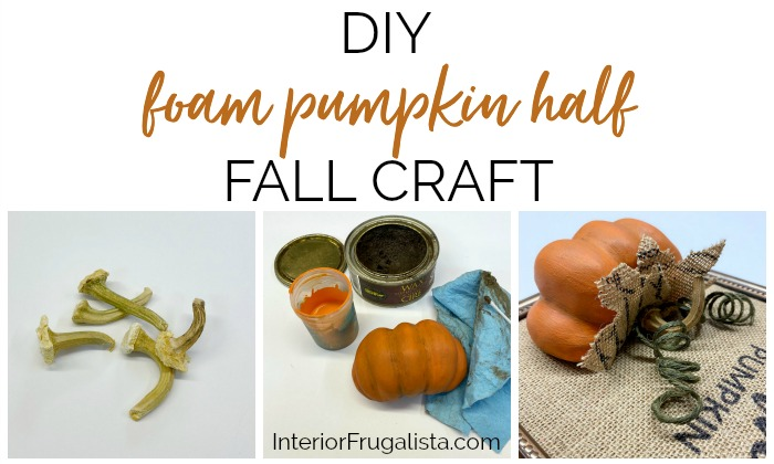 Foam Pumpkin Half Fall Craft