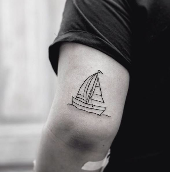 Ship Tattoo Small: 50 Incredible Ship Tattoos Ideas And Designs (2018
