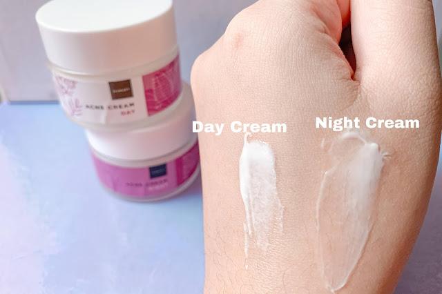 tekstur scarlett acne day & night cream