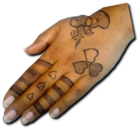 Heart Mehndi Designs for Kids