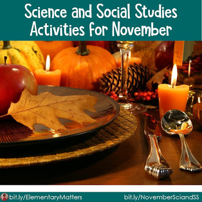 Science and Social Studies for November: here are several Science and Social Studies activities designed for second grade, with November themes.