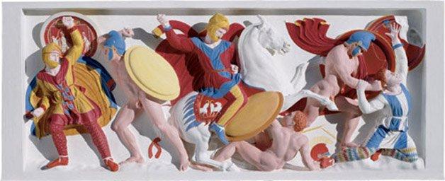 luz uv revela cores originais de estátuas gregas, cores originais de estátuas gregas, restauração de estátuas gregas, estátuas gregas coloridas, estátuas gregas com cores