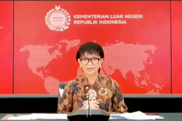 Tanggapi Laporan Pentagon, Menlu Tegaskan Indonesia Tak Akan Jadi Pangkalan Militer China