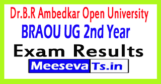 Dr.B.R Ambedkar Open University (BRAOU) UG 2nd Year Results 2017