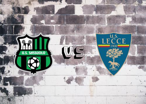 Sassuolo vs Lecce  Resumen