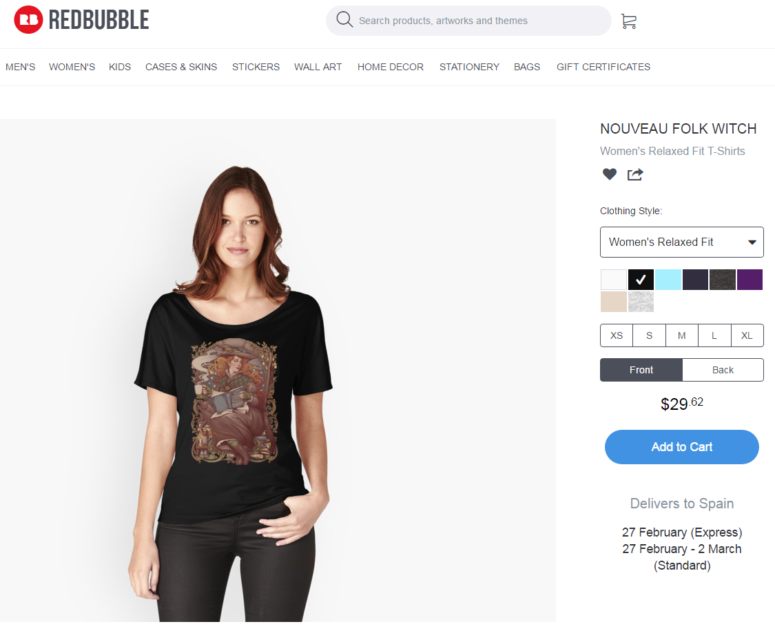 7eb7384e Review: Redbubble part I – Medusa Dollmaker