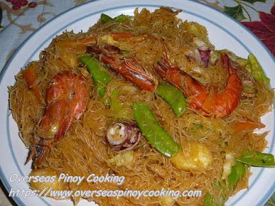 Pansit Bihon Seafood Recipe