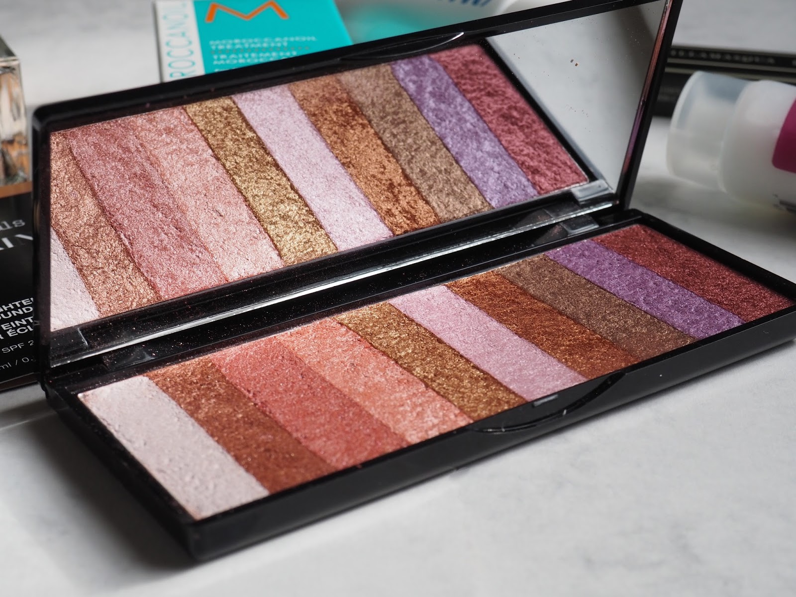 MUA Paradise eyeshadow palette Glamour Spring edit beauty box review Latest in Beauty